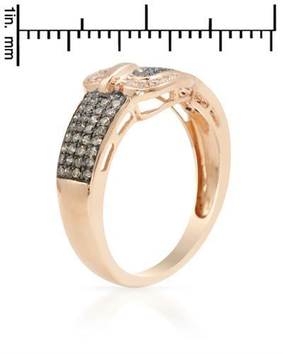 Brand New Ring with 0.41ctw of Precious Stones - diamond and diamond 14K Rose gold