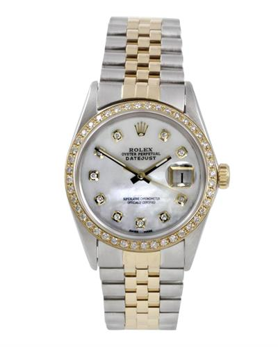 Rolex 16013 PreOwned Automatic date Watch with 0.1ctw diamond
