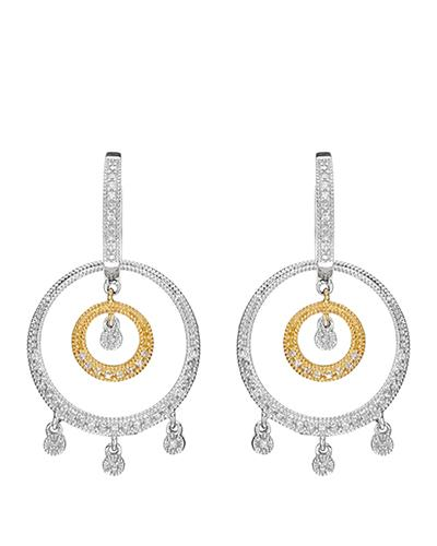 Brand New Earring with 0.52ctw diamond 14K Two tone gold