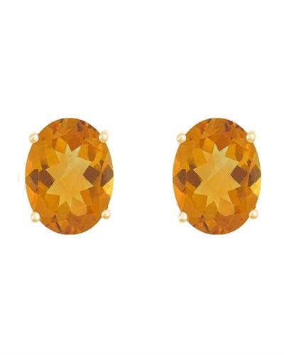 Brand New Earring with 2.4ctw citrine 14K Yellow gold