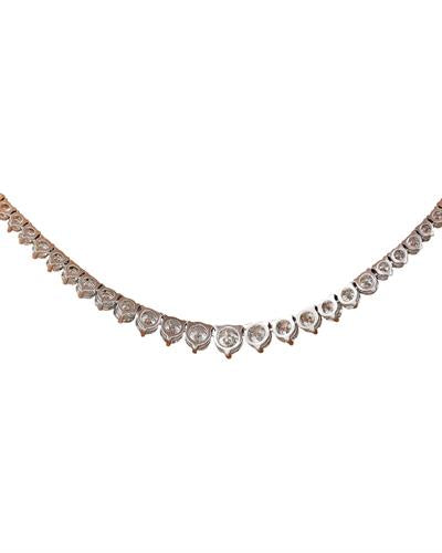 Brand New Necklace with 8.45ctw diamond 14K White gold