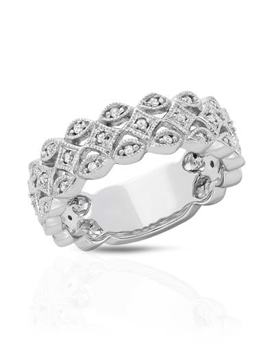 Brand New Ring with 0.2ctw diamond 10K White gold