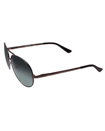 AQS AVS001 Dark Brown Aviator I Brand New Sunglasses  Brown metal