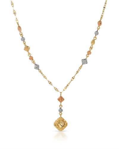 Brand New Necklace 14K Three tone gold