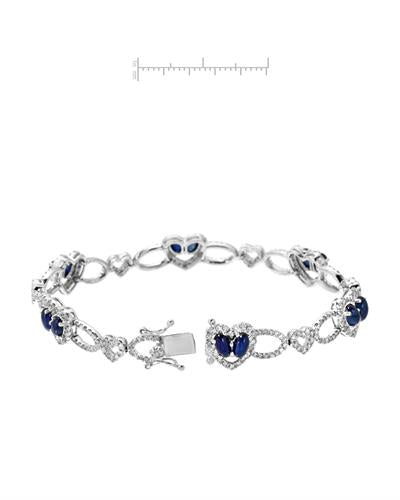 Michael Christoff Brand New Bracelet with 8.13ctw of Precious Stones - diamond and sapphire 14K White gold