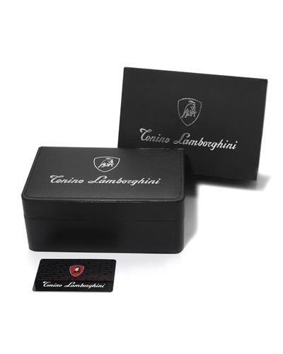 Tonino Lamborghini EN035D.104 Brand New Swiss Movement date Watch with 0.05ctw diamond