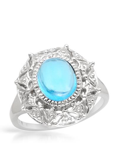 Brand New Ring with 3.05ctw topaz 925 Silver sterling silver
