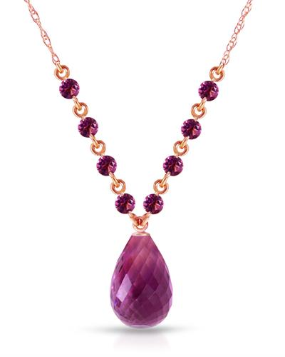 Magnolia Brand New Necklace with 11.5ctw amethyst 14K Rose gold