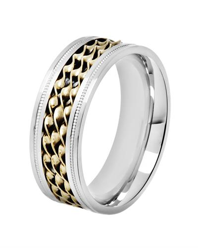 Brand New Ring  Two tone Stainless steel
