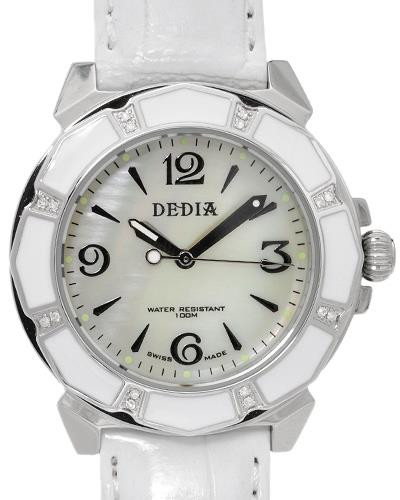 DEDIA 6201LL022 Lily L Brand New Watch with 0.08ctw of Precious Stones - diamond and mother of pearl