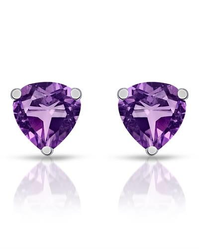 Brand New Earring with 2.3ctw amethyst 925 Silver sterling silver
