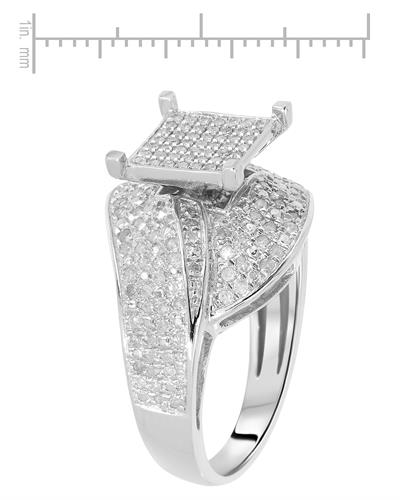 Brand New Ring with 0.65ctw diamond 925 Silver sterling silver