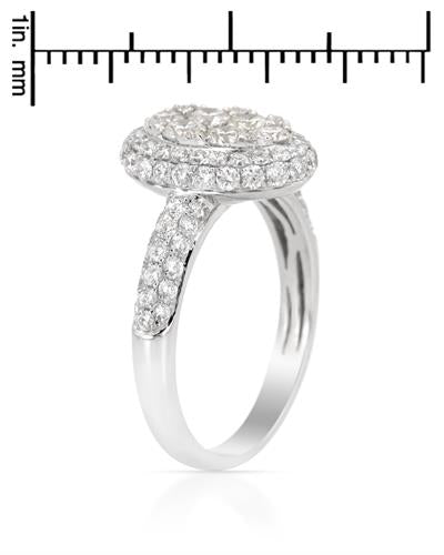 Brand New Ring with 1.48ctw diamond 14K White gold