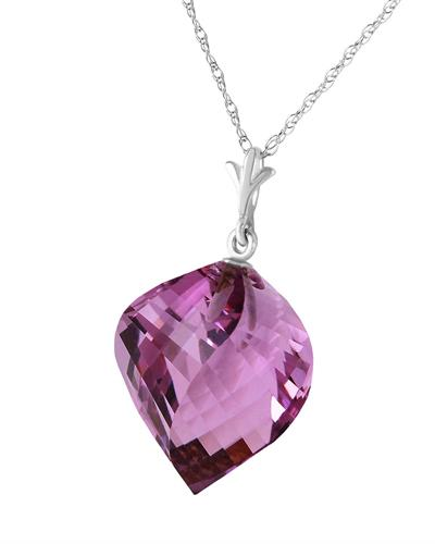 Magnolia Brand New Necklace with 10.75ctw amethyst 14K White gold