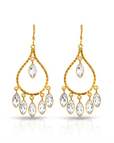 Brand New Earring with 14ctw topaz 925 Yellow sterling silver