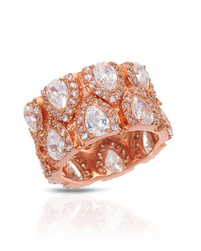 Brand New Ring with 0ctw cubic zirconia 925 Rose sterling silver