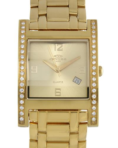Oniss ON8300-22 PARIS Brand New Swiss Quartz date Watch with 0ctw crystal