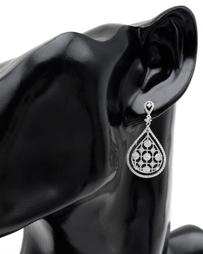 Brand New Earring with 0.94ctw diamond 14K White gold