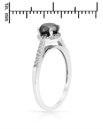 Brand New Ring with 1.03ctw of Precious Stones - diamond and diamond 925 Silver sterling silver