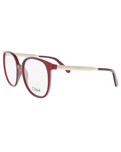 Chloe CE2696 603 Brand New Eyeglasses  Silver metal and  Bordeaux plastic