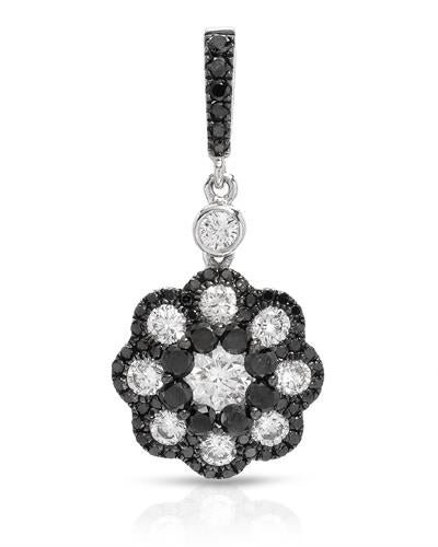 Brand New Pendant with 1.01ctw of Precious Stones - diamond and diamond 14K White gold