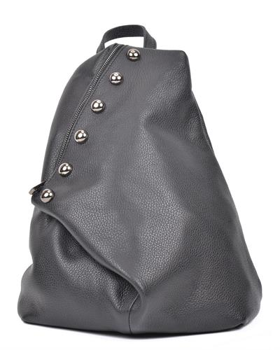 Luisa Vannini SS19 LV 1289 Brand New Backpack  Black leather