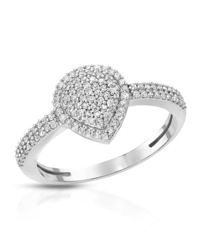 Lundstrom Brand New Ring with 0.35ctw diamond 14K White gold