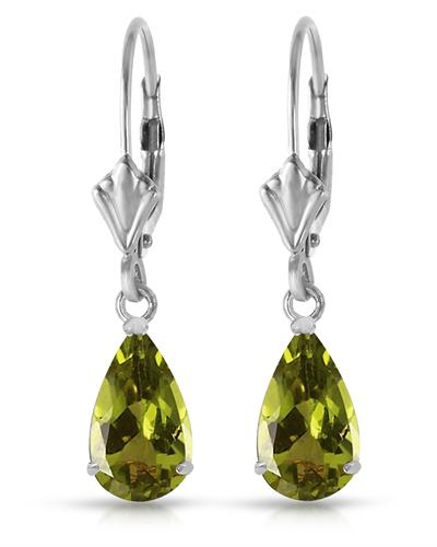 Magnolia Brand New Earring with 3ctw peridot 14K White gold