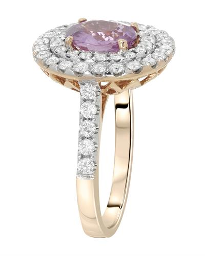 Michael Christoff Brand New Ring with 3ctw of Precious Stones - diamond and sapphire 18K Rose gold