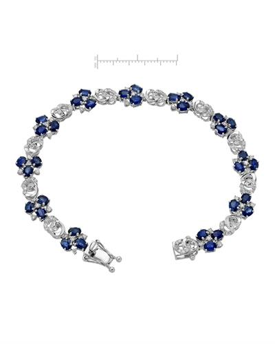 Michael Christoff Brand New Bracelet with 8.2ctw of Precious Stones - diamond and sapphire 14K White gold