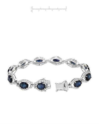 Michael Christoff Brand New Bracelet with 18.46ctw of Precious Stones - diamond and sapphire 14K White gold
