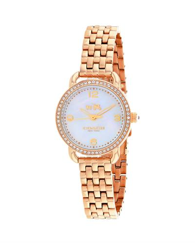 Coach 14502479 Delancey Brand New Quartz Watch with 0ctw crystal