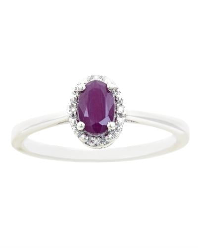 Brand New Ring with 0.61ctw of Precious Stones - diamond and ruby 925 Silver sterling silver