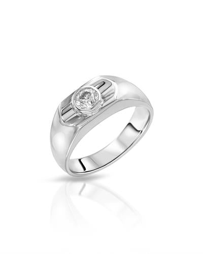 Julius Rappoport Brand New Ring with 0.5ctw diamond 14K White gold