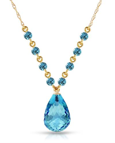Magnolia Brand New Necklace with 11.5ctw topaz 14K Yellow gold