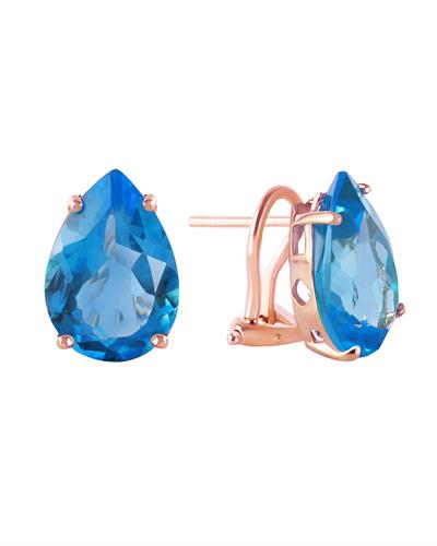 Magnolia Brand New Earring with 10ctw topaz 14K Rose gold