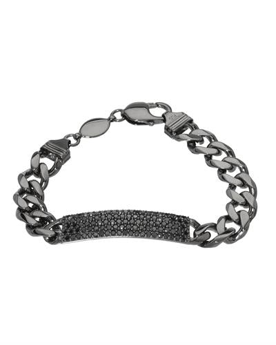 Brand New Bracelet with 3.66ctw diamond 925 Black sterling silver