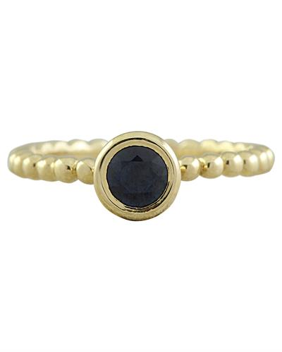 Brand New Ring with 0.5ctw sapphire 14K Yellow gold