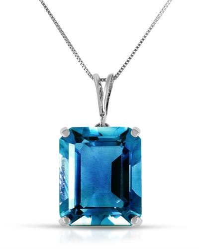 Magnolia Brand New Necklace with 7ctw topaz 14K White gold