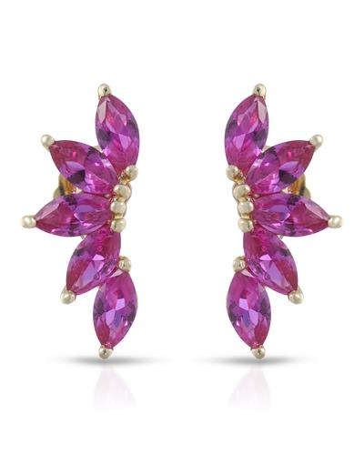 Brand New Earring with 2ctw ruby 10K Yellow gold
