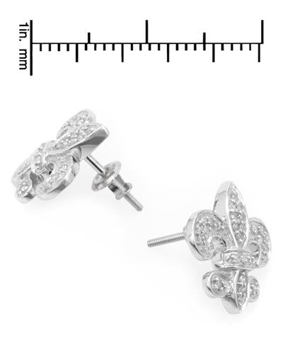 Lundstrom Brand New Earring with 0.3ctw diamond 10K White gold