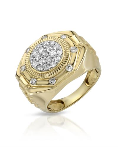 Brand New Ring with 1.05ctw diamond 10K Yellow gold