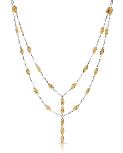 Brand New Necklace 14K Two tone gold