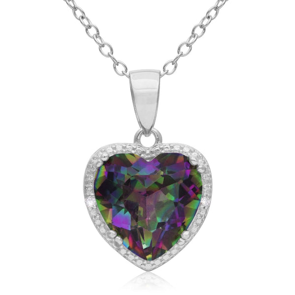 Bedazzled Bijou Brand New Heart Pendant Necklace with Topaz in 18K Gold Plated Silver