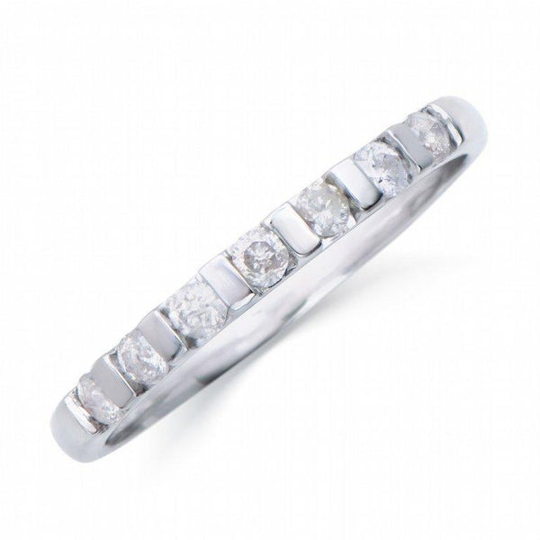 Brand New 0.26ctw Band Ring with Diamonds in 14K White Gold