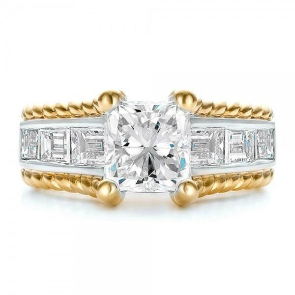 Bedazzled Bijou Brand New Ring with Cubic Zirconia in 18K Gold Plated Silver