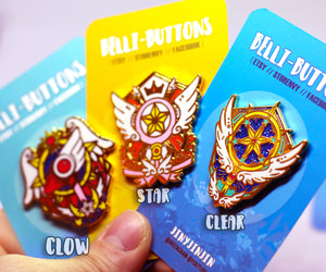 Card Captor Sakura Wand enamel pin collection