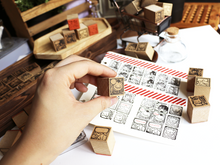 Load image into Gallery viewer, Wooden Stamps