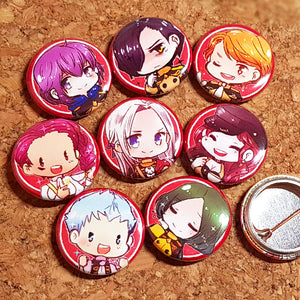 Fire Emblem Three Houses Tea time button set