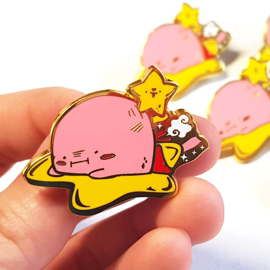 Tired Kirby Enamel Pin